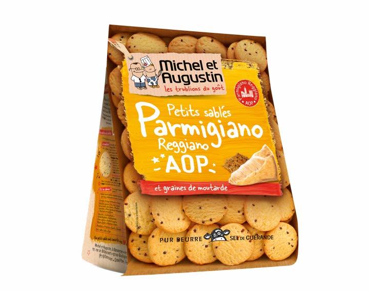 Sablés salés Parmesan AOP moutarde 120g