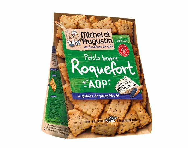 Petits Beurres salés Roquefort AOP pavot bleu 100g