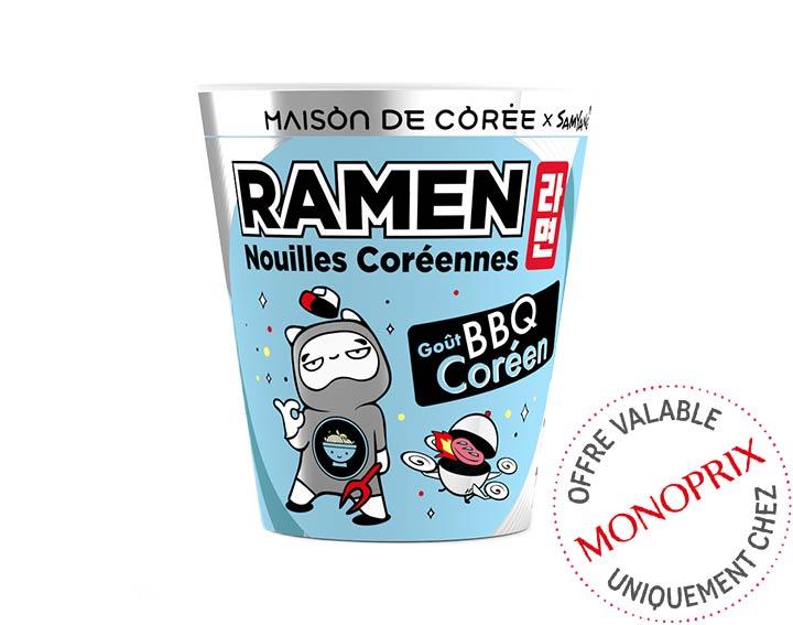 Ramen coréen goût BBQ Coréen 75g
