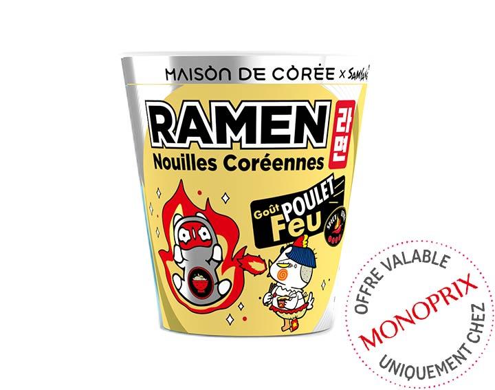 Ramen coréen goût Poulet en Feu 70g
