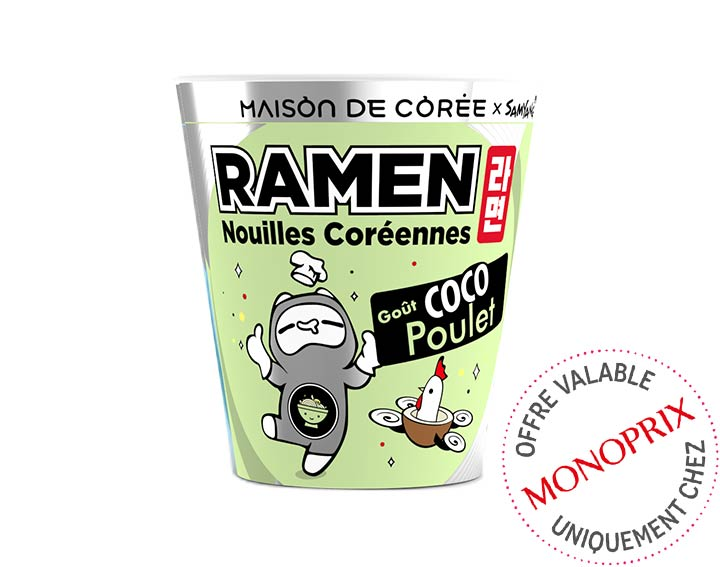 Ramen coréen goût Coco Poulet 65g