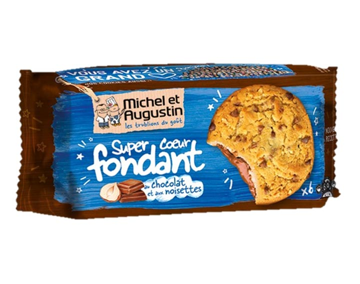 Cookies cœur fondant lait noisette 180g