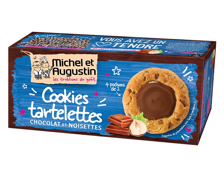 Cookies tartelettes chocolat noisettes 115g