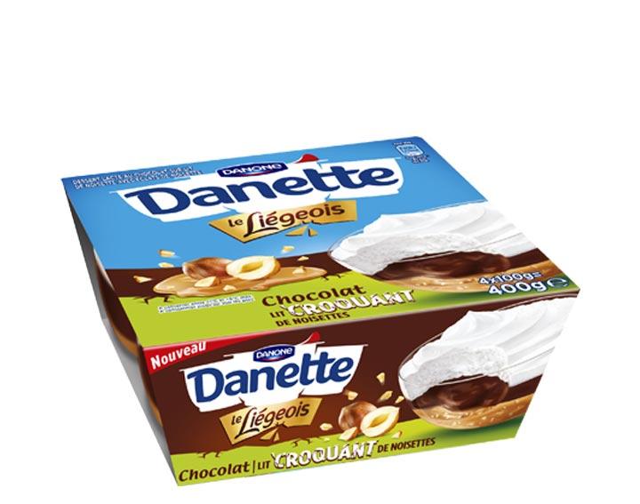 Chocolat lit croquant de noisettes x4
