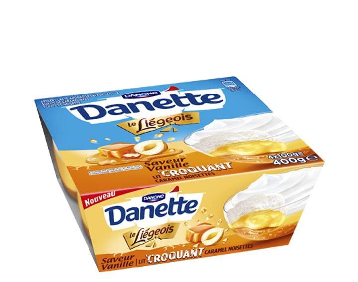 Vanille lit croquant caramel noisettes x4