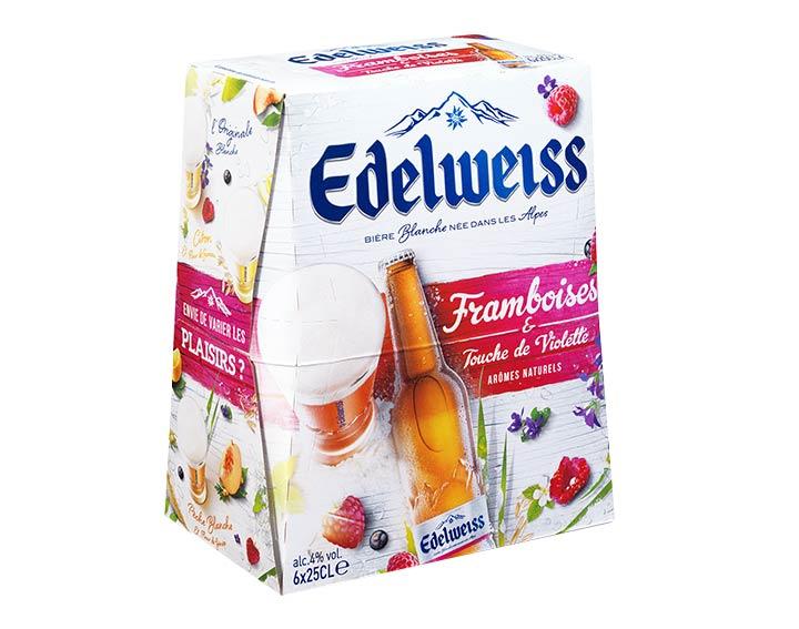 Edelweiss framboises 6x25cl