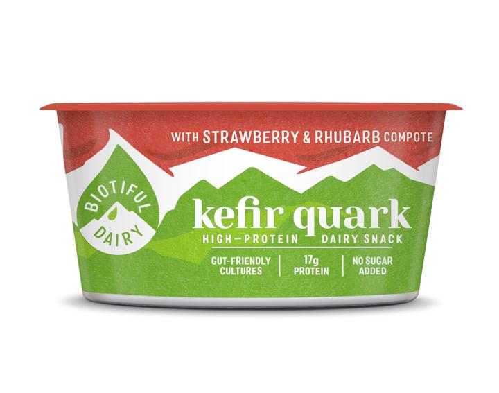 Kefir Quark with Strawberry & Rhubarb 160g