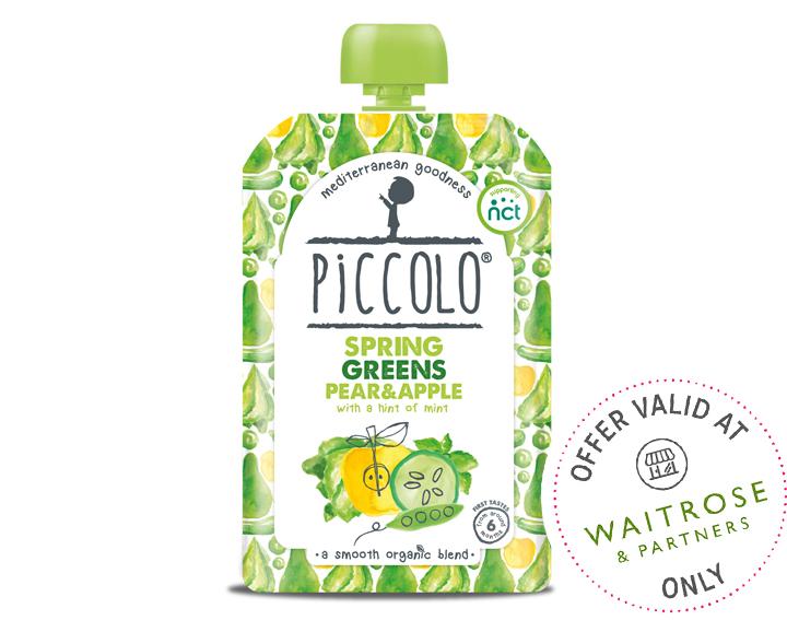 Organic Spring Greens Pear & Apple 100g