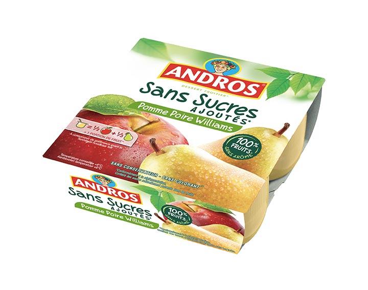 Sans Sucres Ajoutés Pomme Poire x4