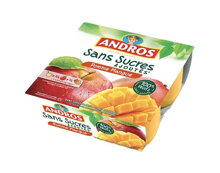 Sans Sucres Ajoutés Pomme Mangue x4