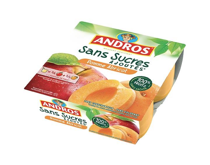 Sans Sucres Ajoutés Pomme Abricot x4