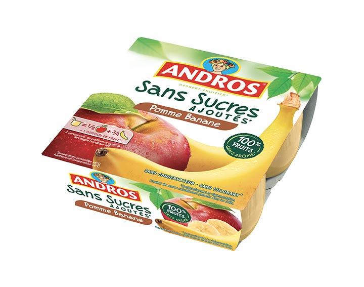 Sans Sucres Ajoutés Pomme Banane x4