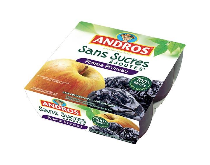 Sans Sucres Ajoutés Pomme Pruneau x4