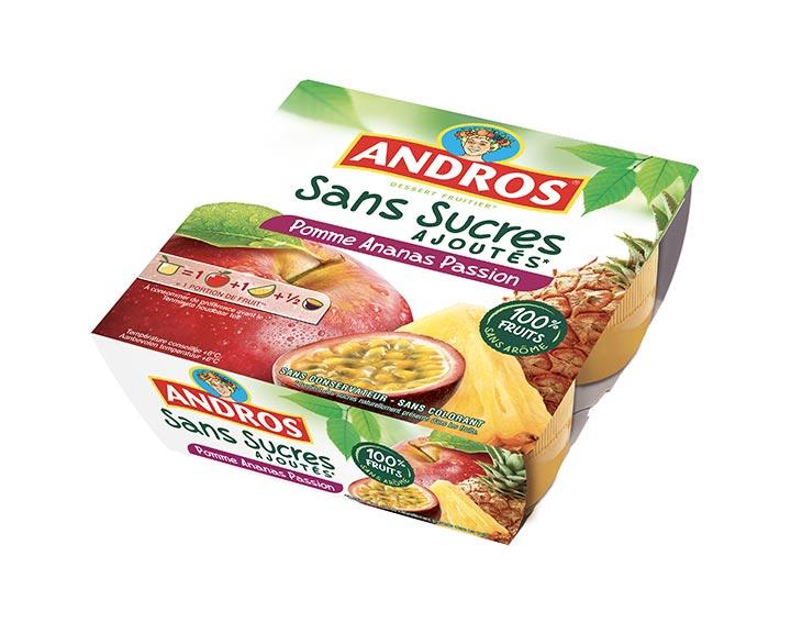 Sans Sucres Ajoutés Pomme Ananas Passion x4