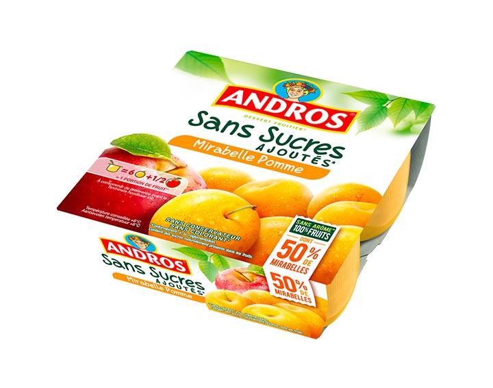 Sans Sucres Ajoutés Mirabelle Pomme x4
