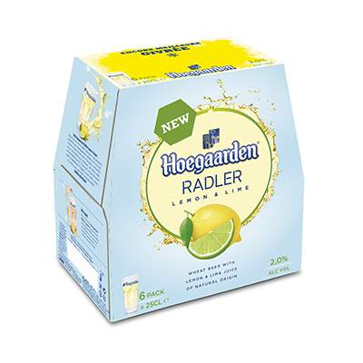 Hoegaarden Radler Lemon & Lime - pack de 6x25cl