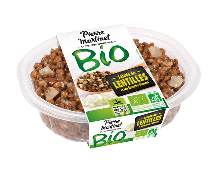 Salade de lentilles et son émincé d'Oignons Bio