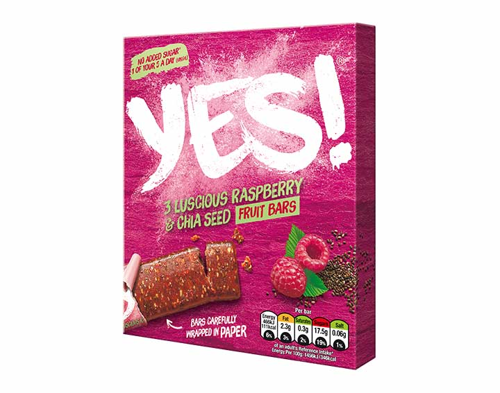Raspberry and Chia Fruit Bar 3 pack
