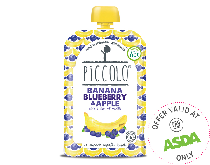 Piccolo Organic Banana, Blueberry & Apple 100g