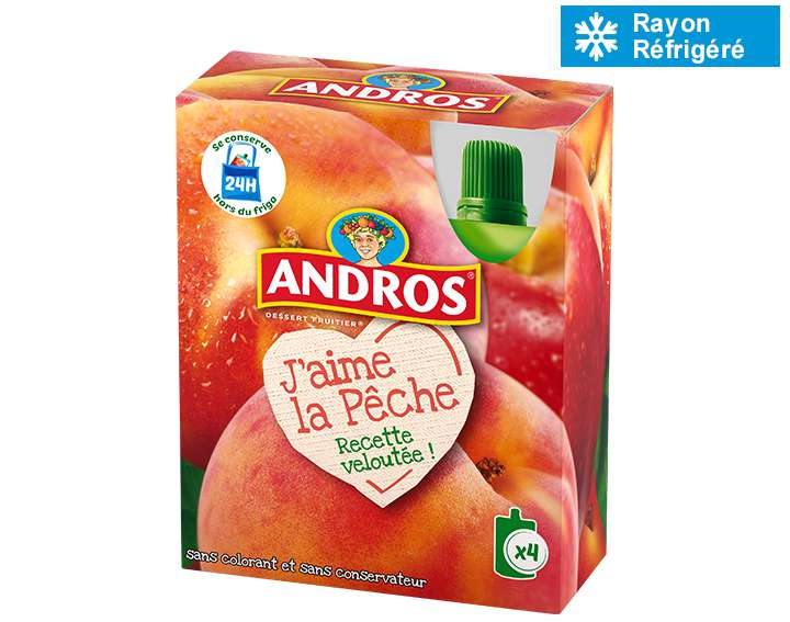 Andros J'aime la Pêche 4x90g
