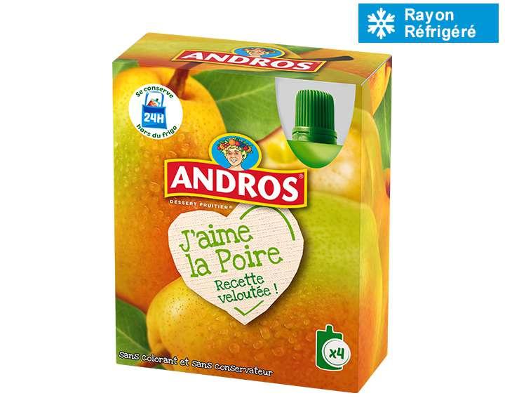 Andros J'aime la Poire 4x90g
