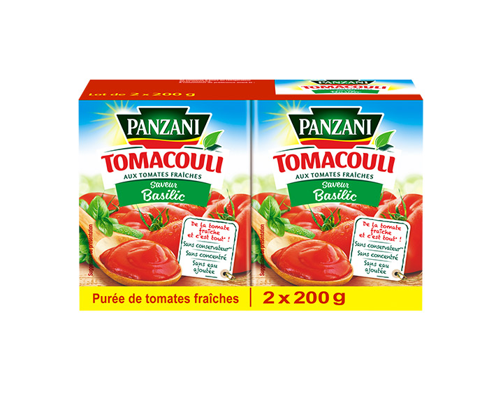 Basilic 100% tomates fraîches 2x200g