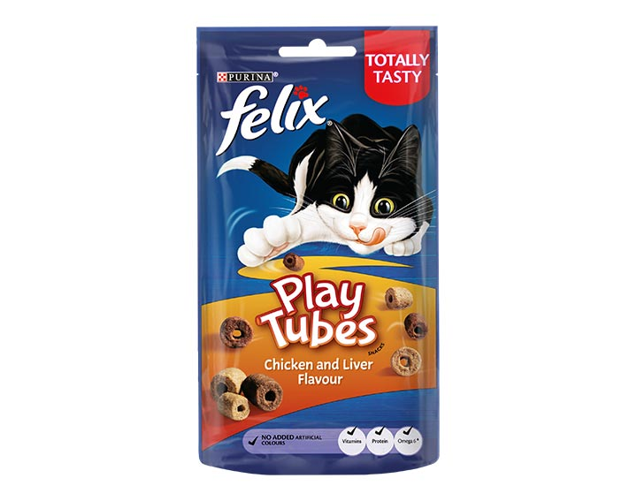 Play Tubes Cat Treats Chicken & Liver 50g