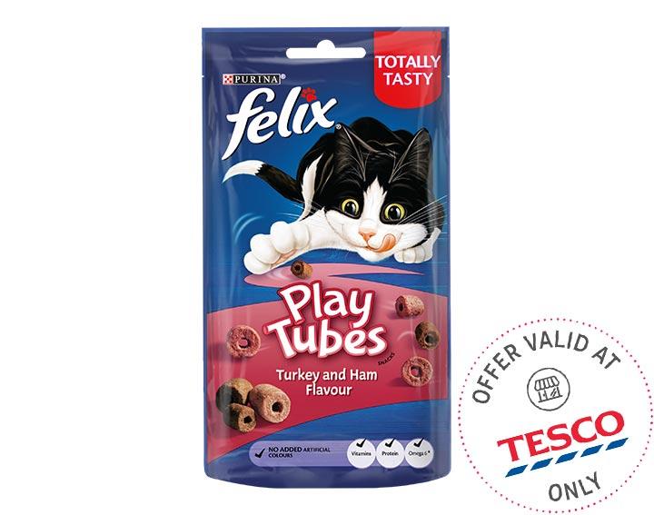 Play Tubes Cat Treats Turkey & Ham 50g