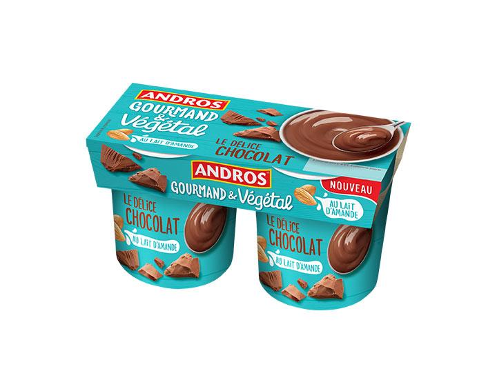 Délice Chocolat au lait d'amande 2x120g