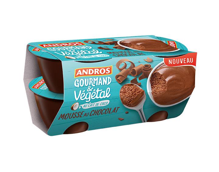 Mousse au chocolat au lait de coco 4x55g
