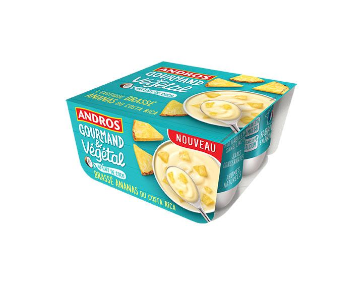 Brassé Ananas au lait de coco 4x100g
