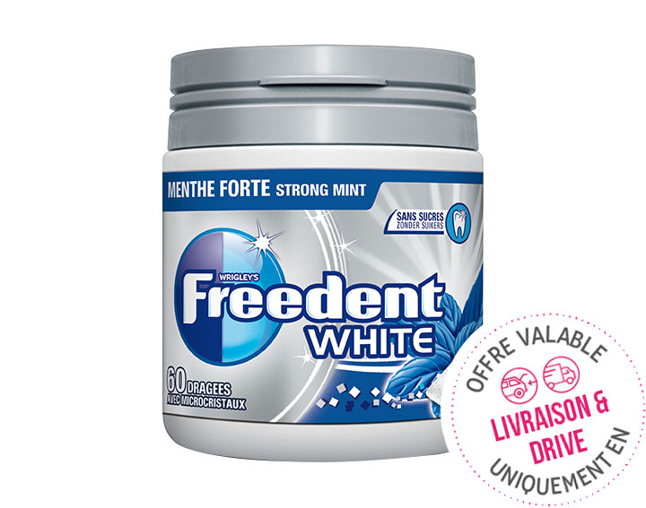 White Menthe Forte Box 60 Dragées