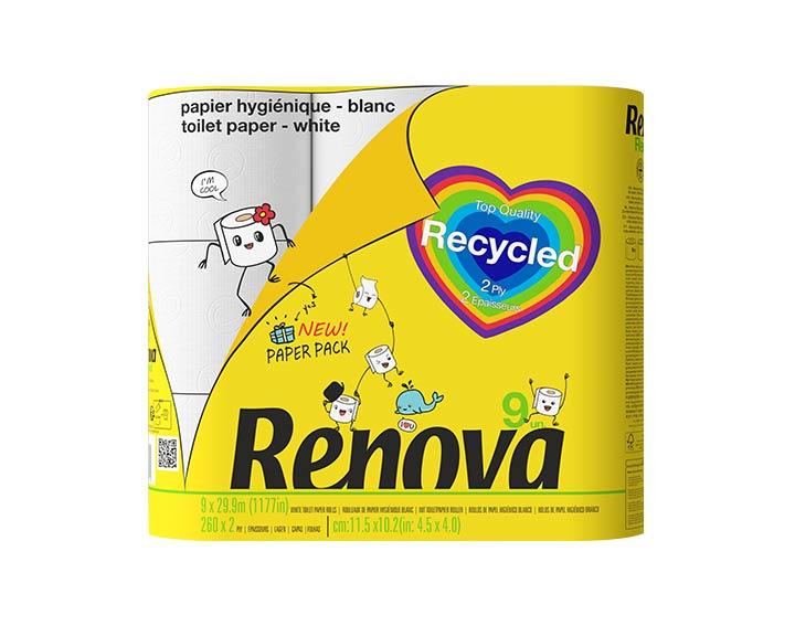Papier hygiénique recylcled x9