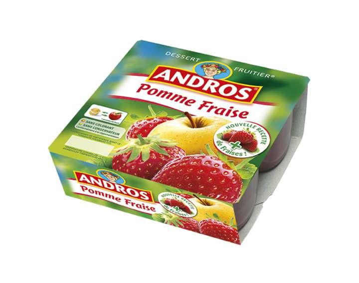 Dessert Fruitier Andros  - Pomme Fraise