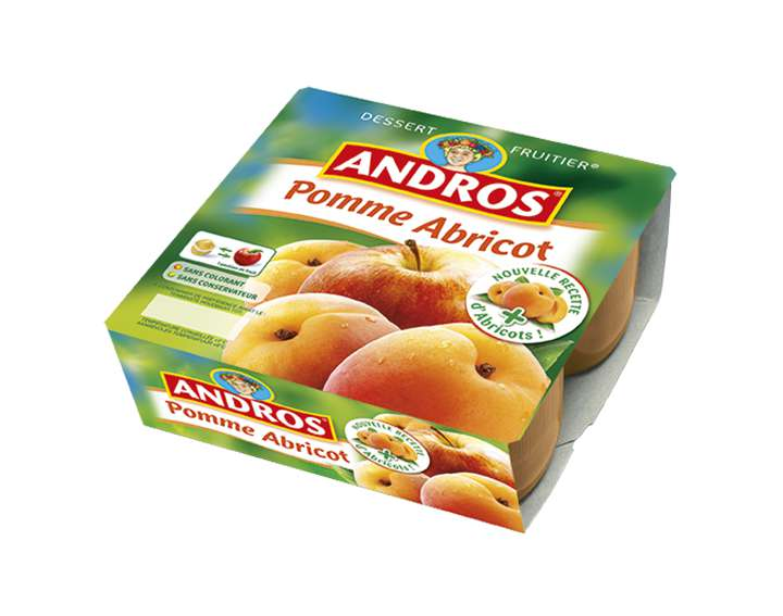 Dessert Fruitier Andros  - Pomme Abricot