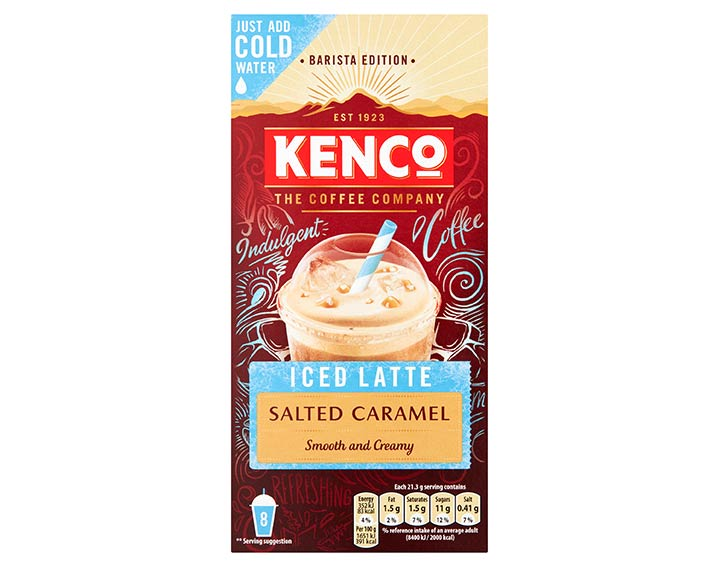 Instant Iced Latte Salted Caramel 8x21.5g