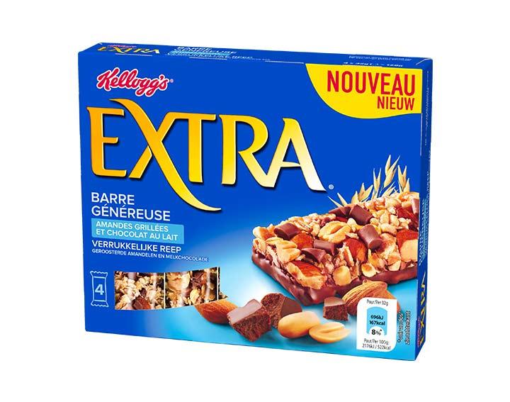 Amandes Grillées et Chocolat au Lait 4x32g