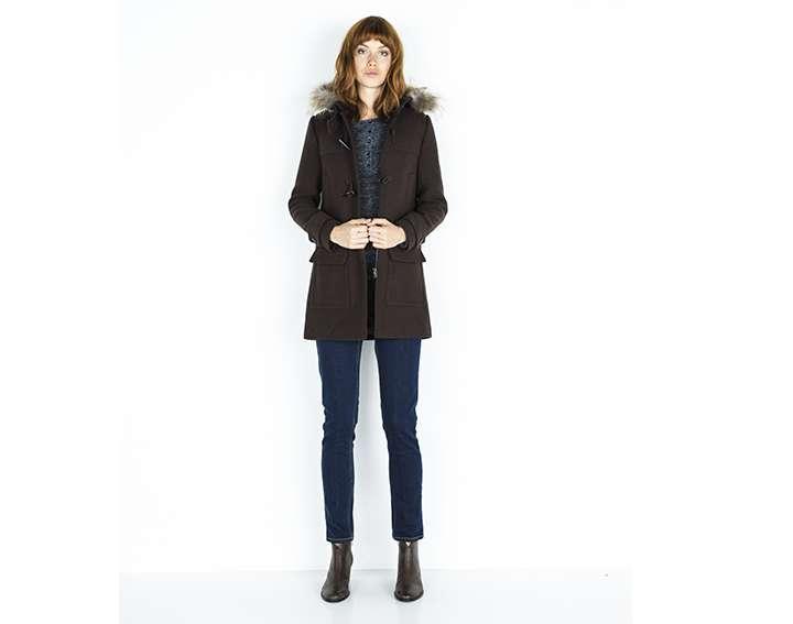 Manteau femme duffle-coat drap de laine, ENNERY - 195€