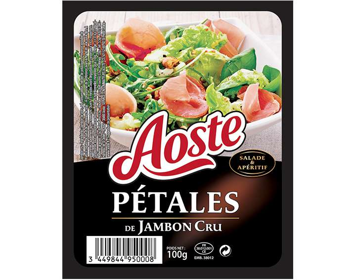 Pétales de Jambon Cru Aoste 100g