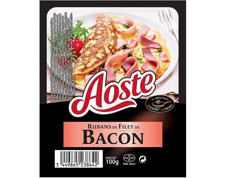 Rubans de Filet de Bacon Aoste 100g