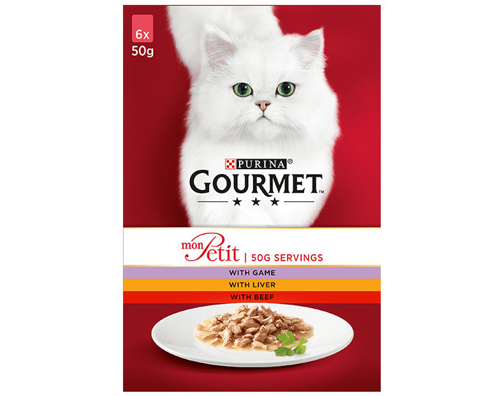 Gourmet Mon Petit Game, Liver & Beef 6x50g