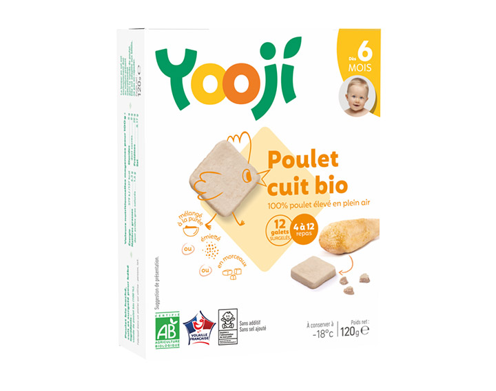 Poulet bio - jusqu'à 12 repas (120g)