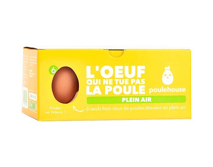 Boîte de 6 œufs Plein air