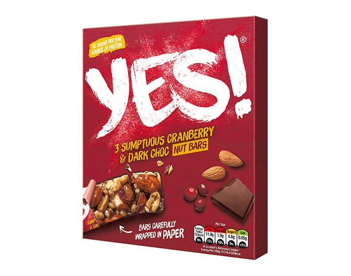Cranberry and Dark Chocolate Nut bar 3x35g