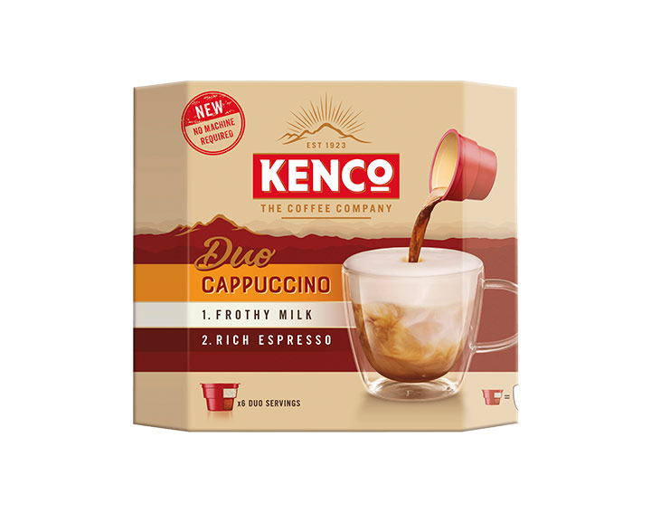 Kenco Duo Cappuccino Instant Coffee 6x24g