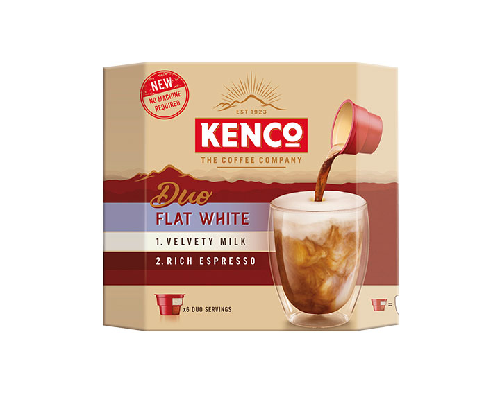 Kenco Duo Flat White Instant Coffee 6x24g