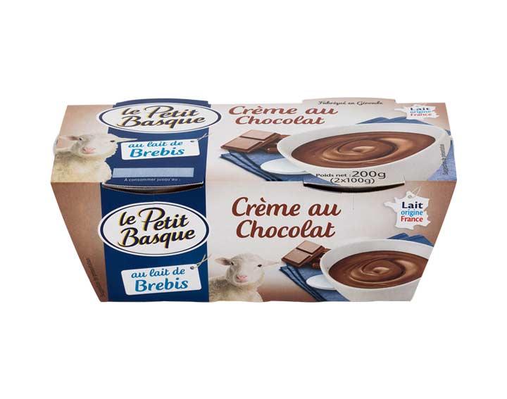 Crème chocolat au lait de brebis 2x100g