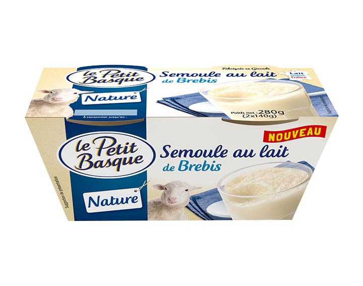 Semoule au lait de brebis nature 2x140g
