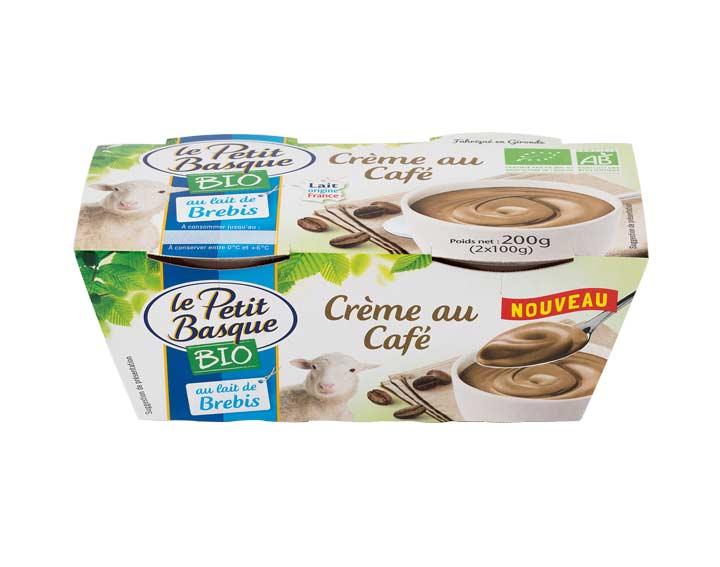 Crème café Bio au lait de brebis 2x100g