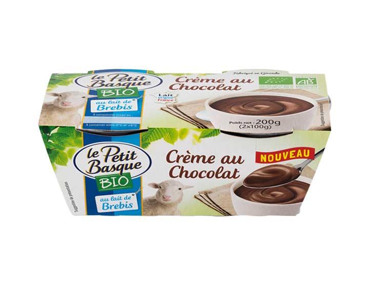 Crème chocolat  Bio au lait de brebis 2x100g